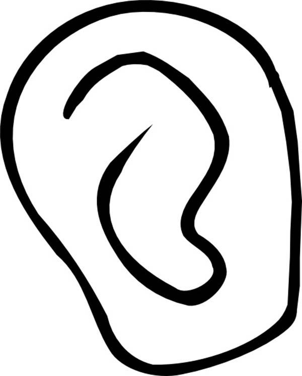 Ear, : Ear Catching Sound Coloring Pages