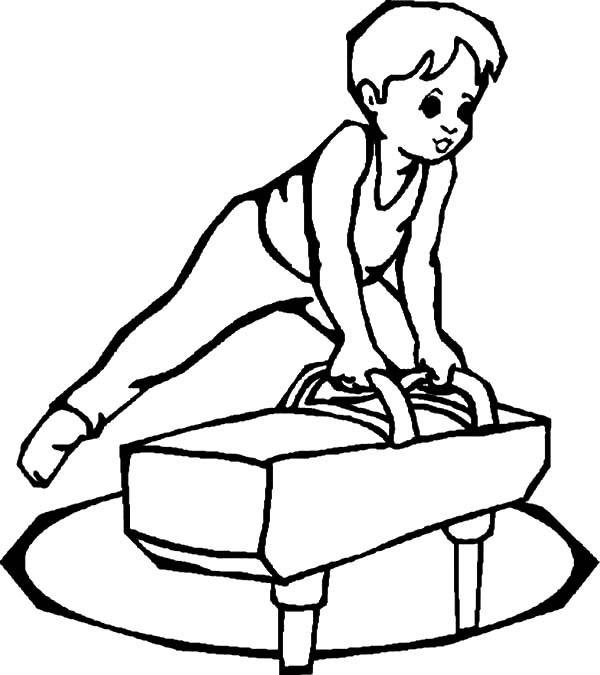 Exercise, : Exercise Training for Beginner Coloring Pages