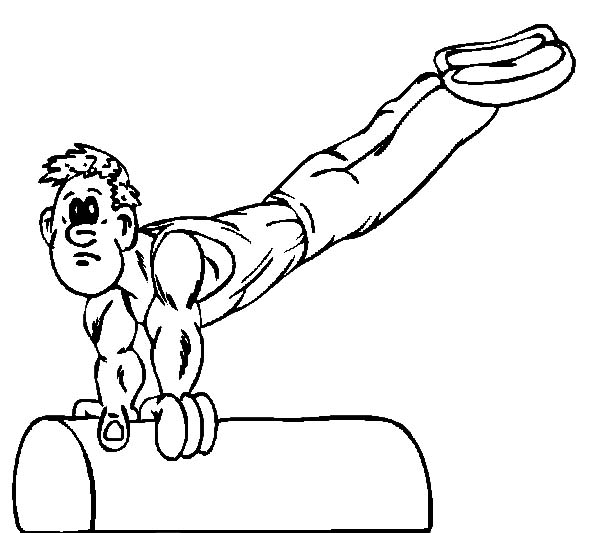 Exercise, : Exercise for Gymnastic Athlete Coloring Pages