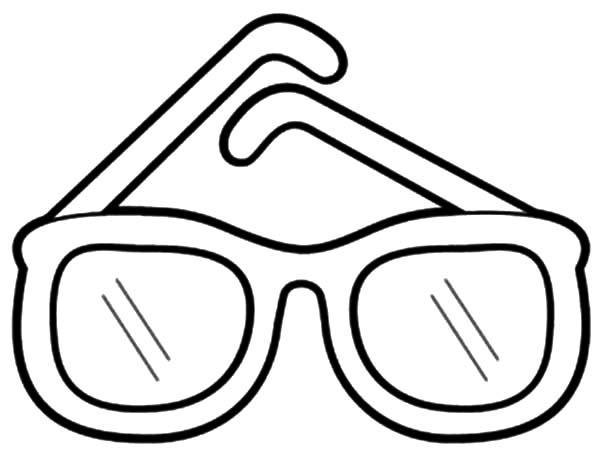 Eyeglasses, : Eyeglasses Coloring Pages