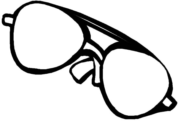 Eyeglasses, : Eyeglasses for Bright Light Coloring Pages