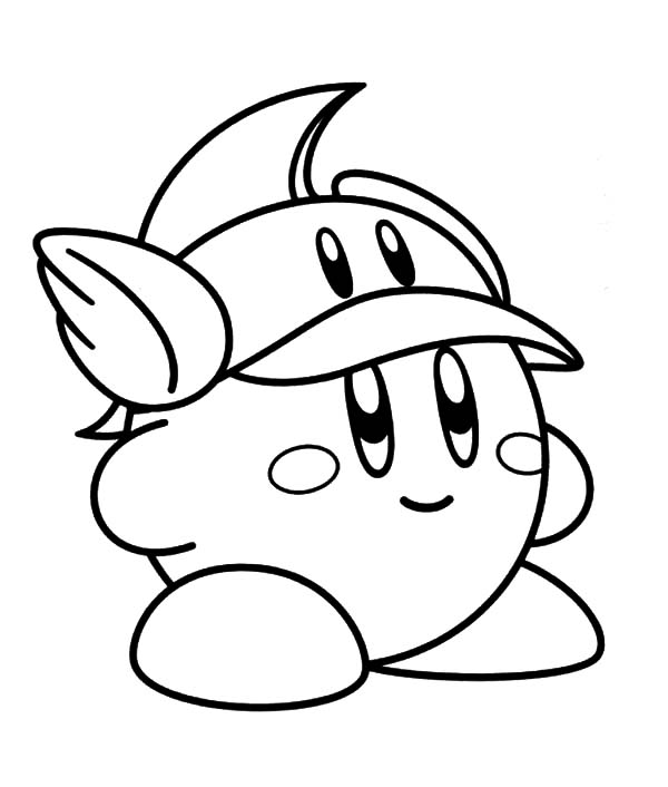 Kirby, : Famous Characters Nintendo Kirby Coloring Pages