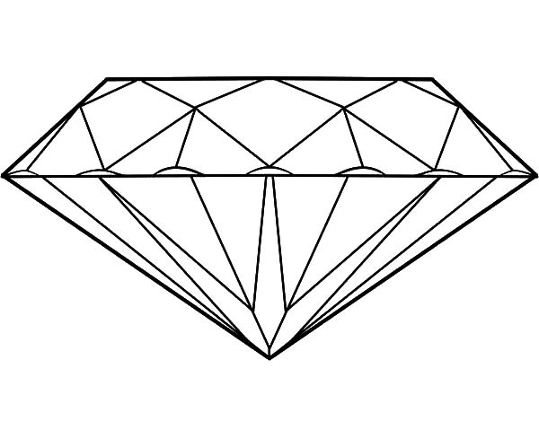 Diamond Shape, : Fancy Diamond Shape Coloring Pages