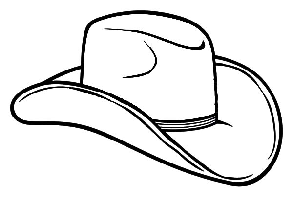 Cowboy Hat, : Farmer Cowboy Hat Coloring Pages
