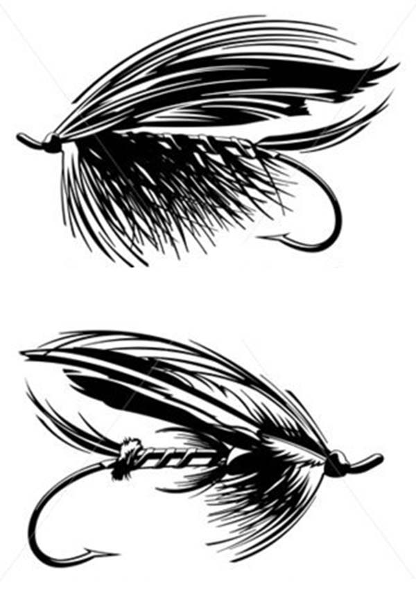 Fishing Lures, : Feather Hook Fishing Lure Coloring Pages