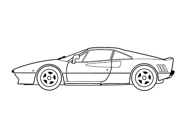 Ferrari Cars, : Ferrari 288 GTO Cars Coloring Pages