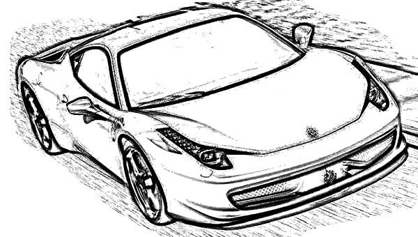 Ferrari Xx Evolution Coloring Page Ferrari Cars Coloring Pages