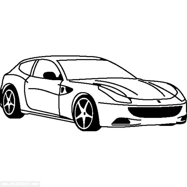 Ferrari Cars, : Ferrari 488 GTB Cars Coloring Pages