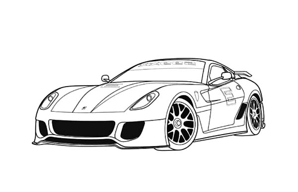 Ferrari Cars, : Ferrari 599 Sports Cars Coloring Pages