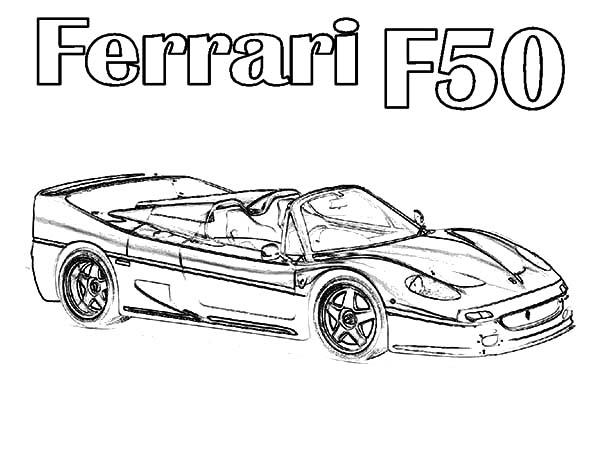 Ferrari Cars, : Ferrari Cars F50 Coloring Pages
