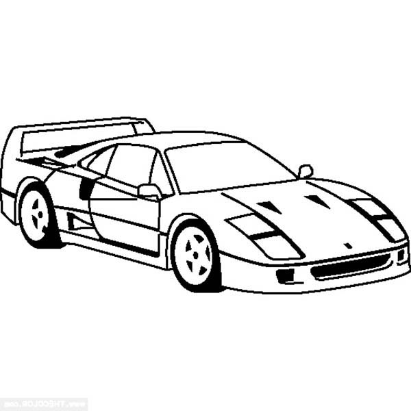 Ferrari Cars, : Ferrari Enzo Cars Coloring Pages