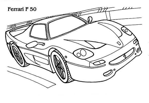 Ferrari Cars, : Ferrari F 50 Cars Coloring Pages