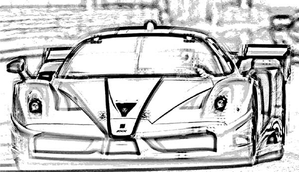 Ferrari Cars, : Ferrari FXX Cars Coloring Pages