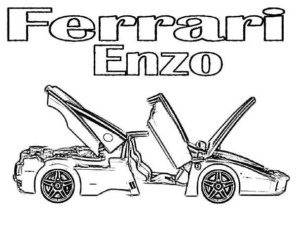 Ferrari Cars, : Ferrari Italia Enzo Cars Coloring Pages