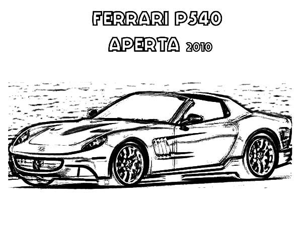 Ferrari Cars, : Ferrari P540 APERTA 2010 Cars Coloring Pages