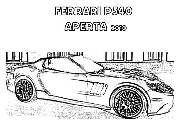 Ferrari Cars, : Ferrari P540 Aperta Cars Coloring Pages