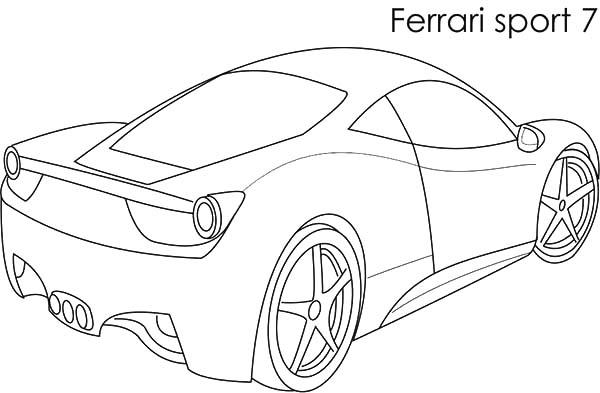 Ferrari Cars, : Ferrari Sport Cars 7 Coloring Pages