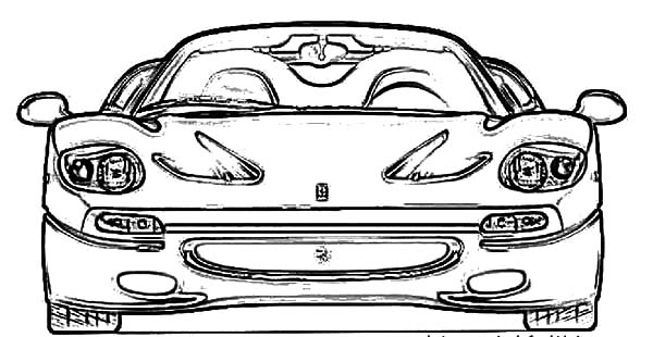 Ferrari Cars, : Ferrari Sport Cars F50 Coloring Pages