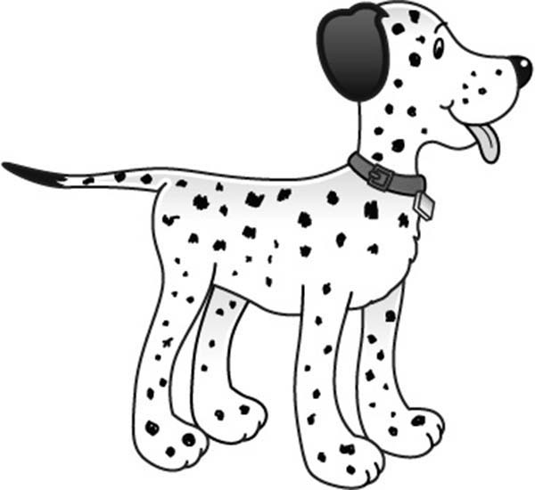 Fire Dog, : Fire Dog Coloring Pages