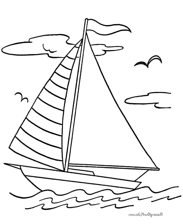 Fishing Boat, : Fishing Boat Sailing Coloring Pages