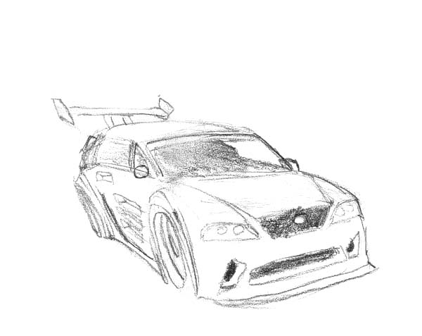 Drifting Cars, : Ford Focus RS Rally Drifting Cars Coloring Pages