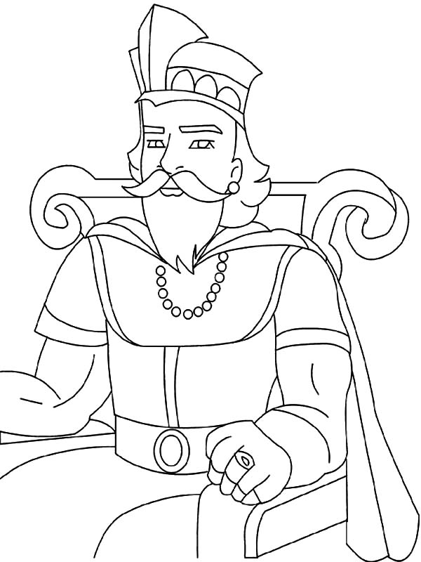 King, : Great King Coloring Pages