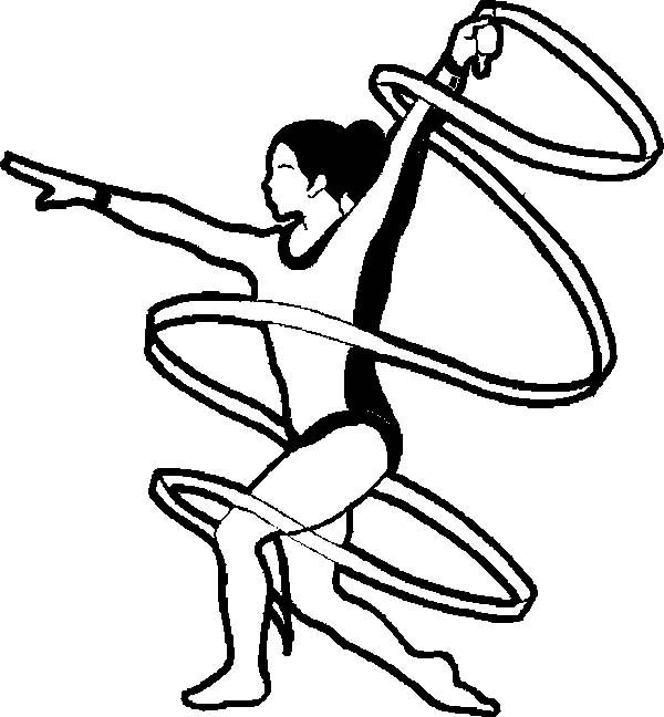 Exercise, : Gymnastic Exercise Coloring Pages