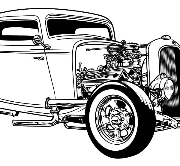 Coloring Pages Hot Rod Cars Exhibitions Kids Play Color