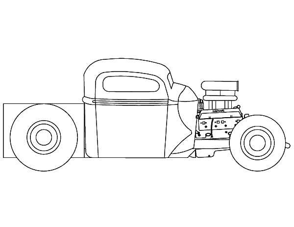 Hot Rod Cars, : Hot Rod Cars Outline Coloring Pages