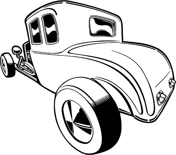 Hot Rod Cars, : Hot Rod Cars Picture Coloring Pages