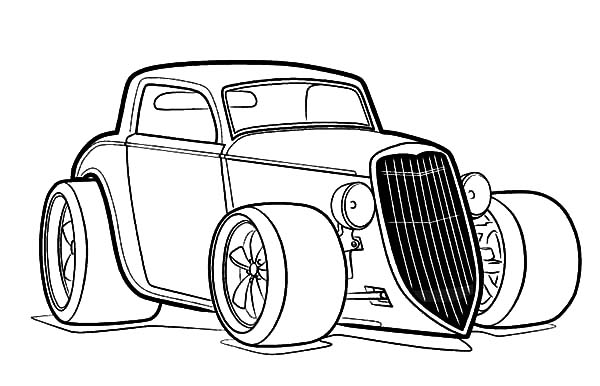 Hot Rod Cars, : Hot Rod Chevy Cars Coloring Pages