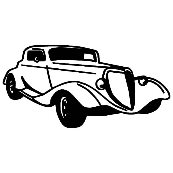 Hot Rod Cars, : Hot Rod Classic Cars Coloring Pages