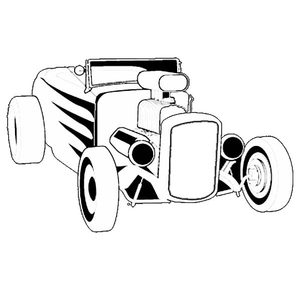 Coloring Pages Model T Ford : Hot rod roadster cars coloring pages kids play color