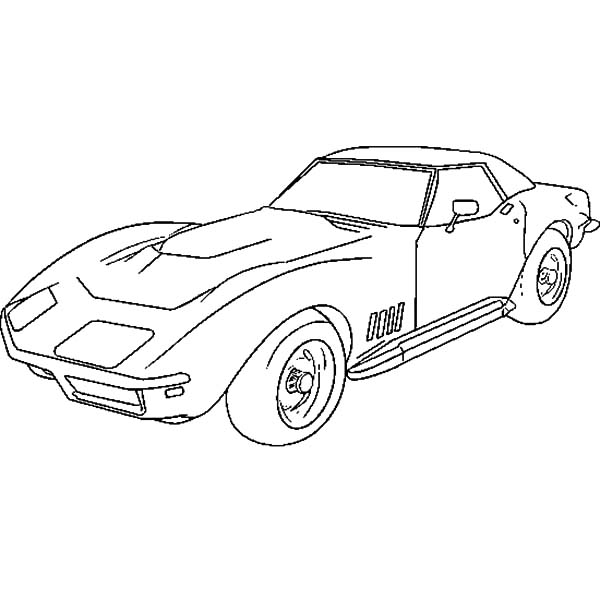 Corvette Cars, : How to Draw Corvette Cars Coloring Pages