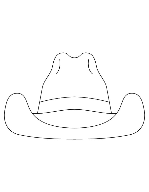 Cowboy Hat, : How to Draw Cowboy Hat Coloring Pages