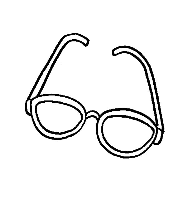 Eyeglasses, : How to Draw Eyeglasses Coloring Pages