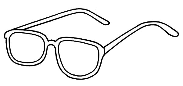 Coloring Pages Improve Your Vision With Eyeglasses Pages