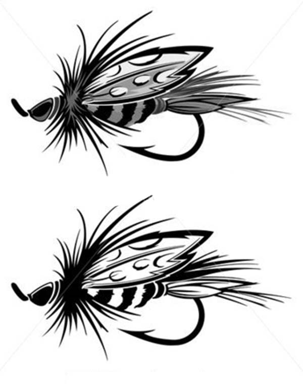 Fishing Lures, : Insect Resemblant Fishing Lure Coloring Pages
