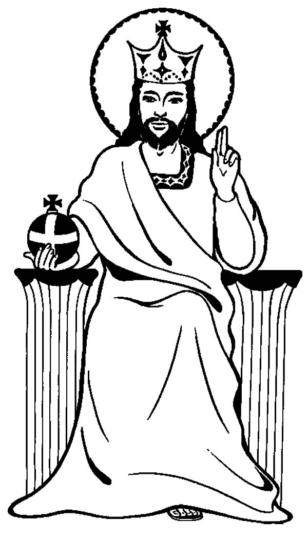 King, : Jesus is King Coloring Pages