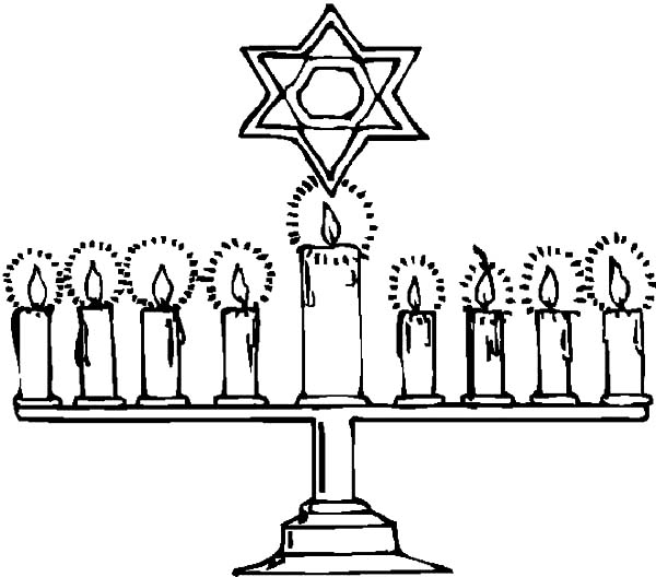 Kinara, : Jew Kinara Coloring Pages