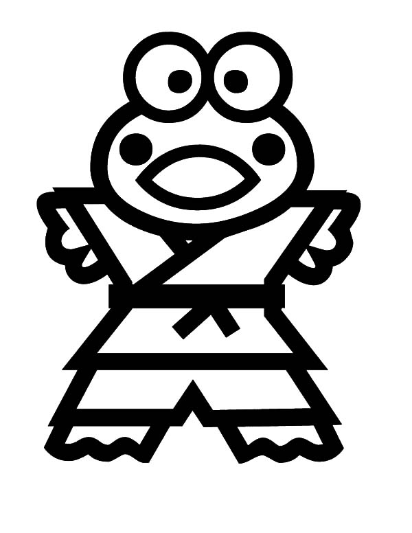 free keroppi coloring pages - photo #41