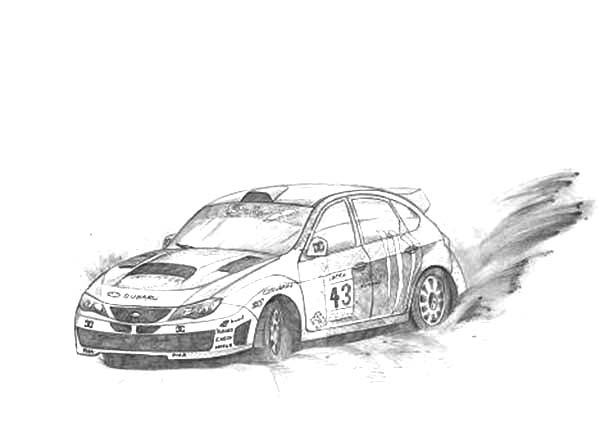 Drifting Cars, : Ken Block Awesome Drifting Cars Coloring Pages