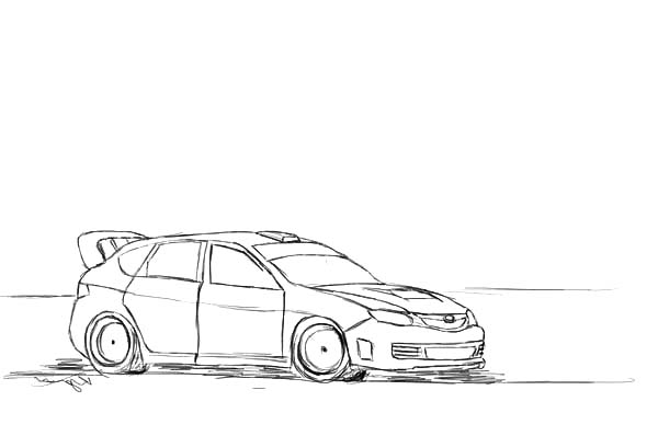 Drifting Cars, : Ken Block Drifting Cars Coloring Pages