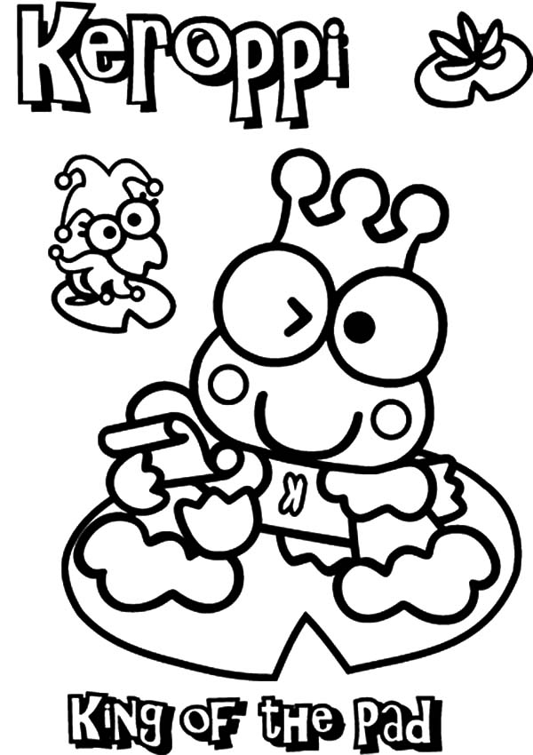 Keroppi, : Kero Kero Keroppi King of the Pad Coloring Pages