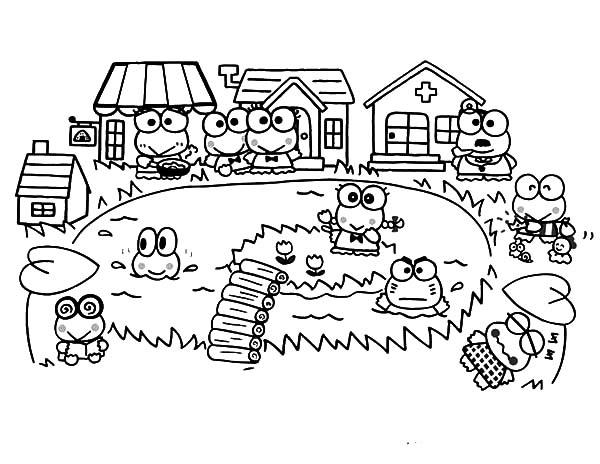 free keroppi coloring pages - photo #37