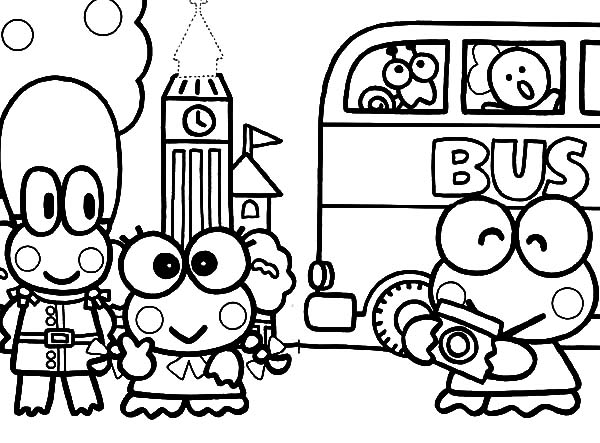 free keroppi coloring pages - photo #49