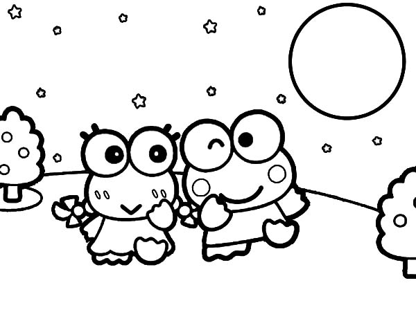 free keroppi coloring pages - photo #42