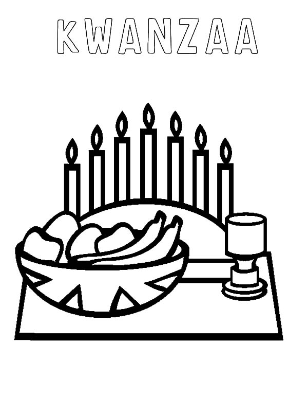 Kinara, : Kinara Kwanzaa Coloring Pages