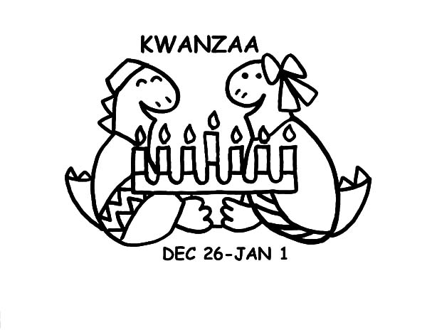 Kinara, : Kinara for Kwanzaa Day Coloring Pages