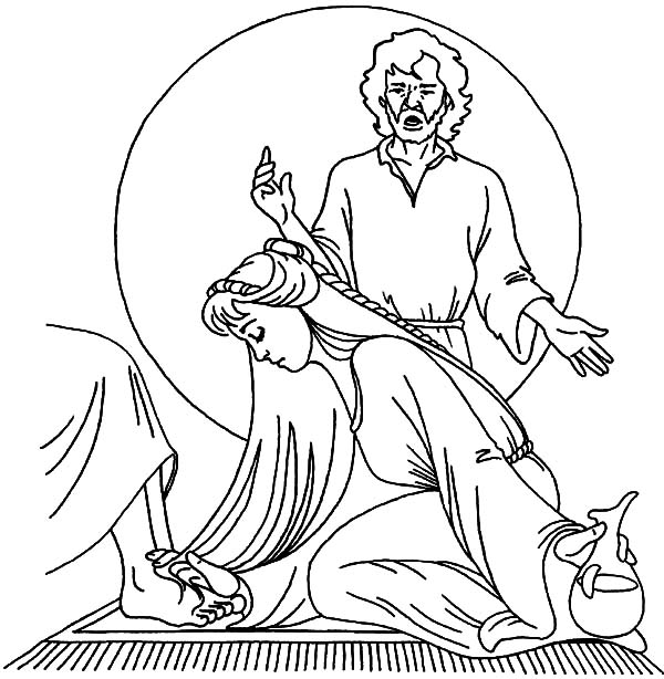 Kindness, : Kindness Anointing Jesus Coloring Pages